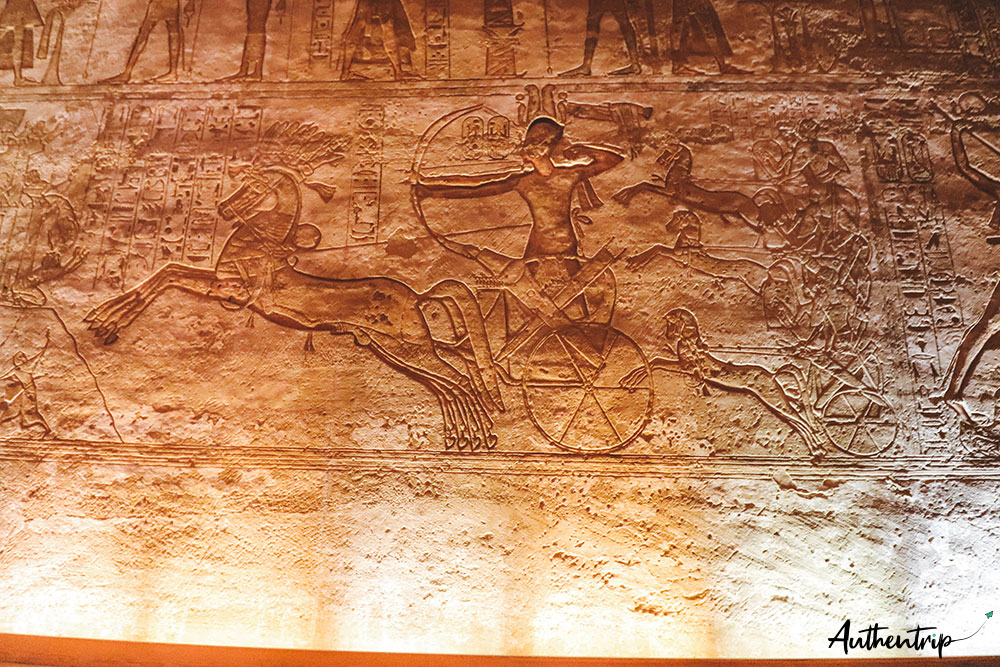Tableau Ramses II, Abu Simbel