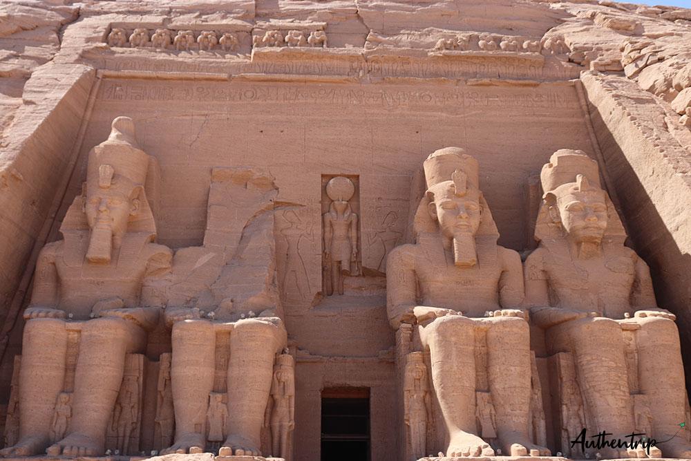 Abu Simbel colosses