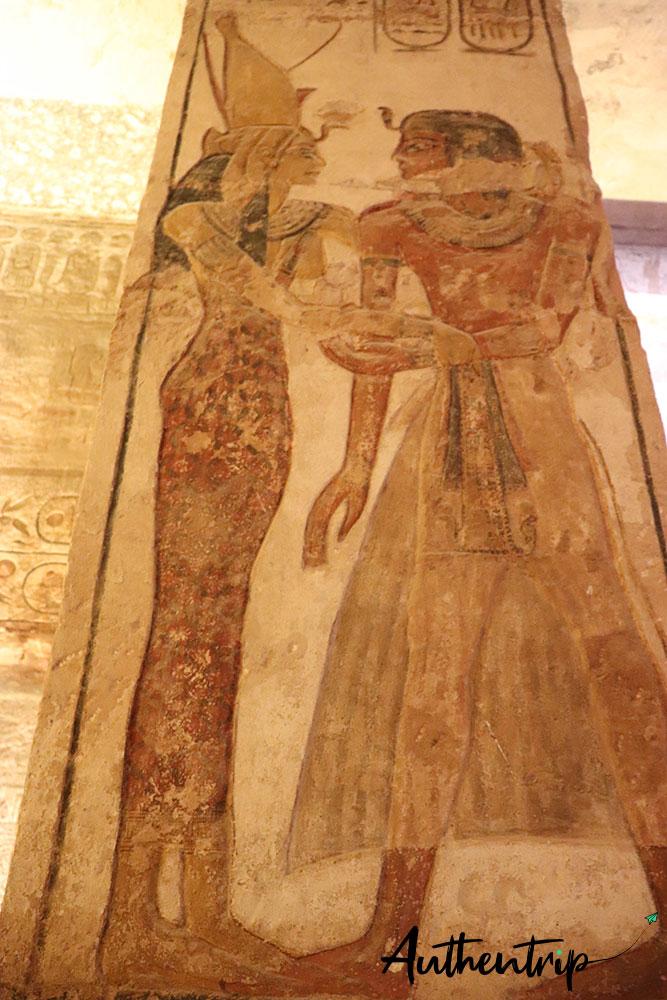 Peinture à Abu Simbel