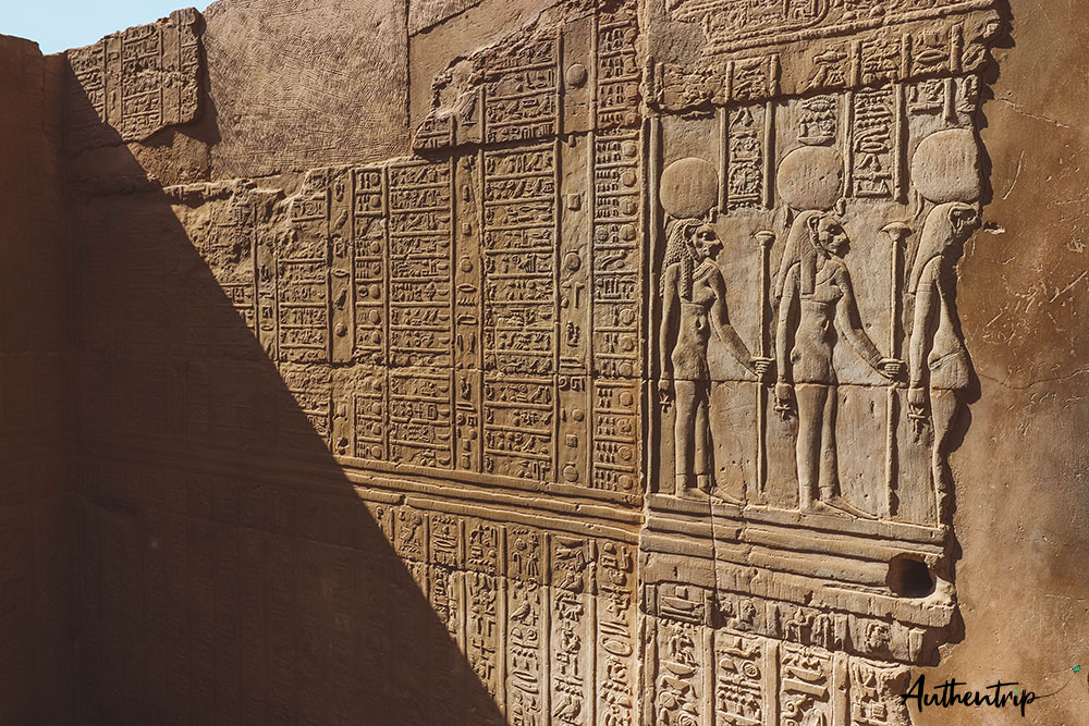 calendrier, temple Kom ombo