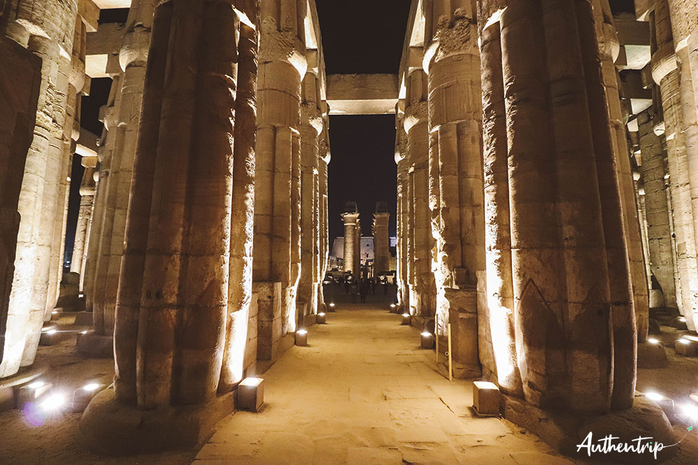 colonnes temple louxor