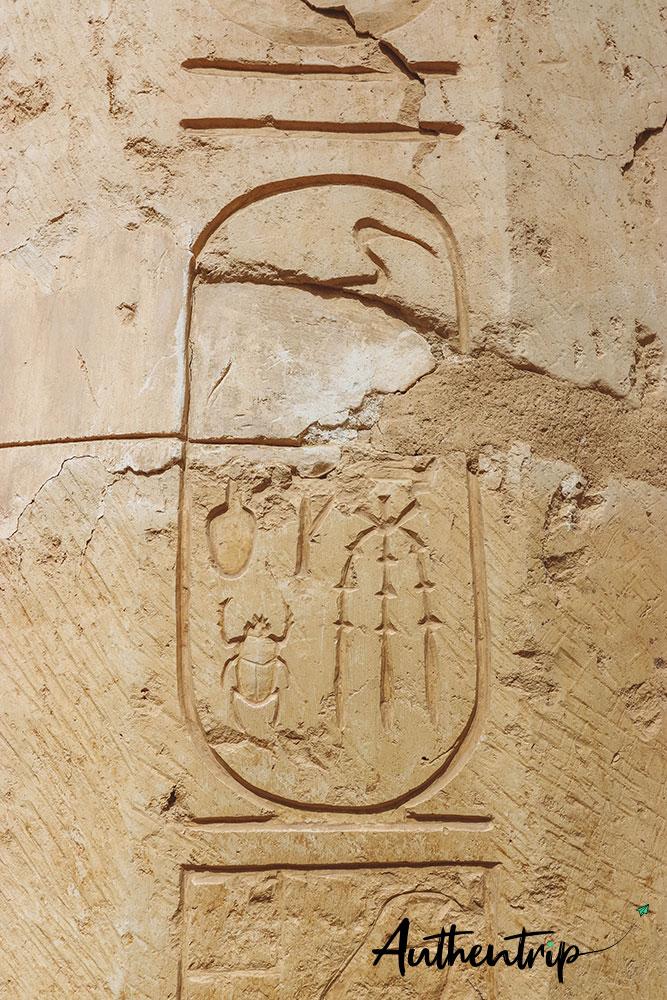 temple hatchepsut cartouche