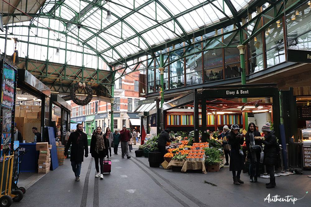 étales fruits légumes borough market
