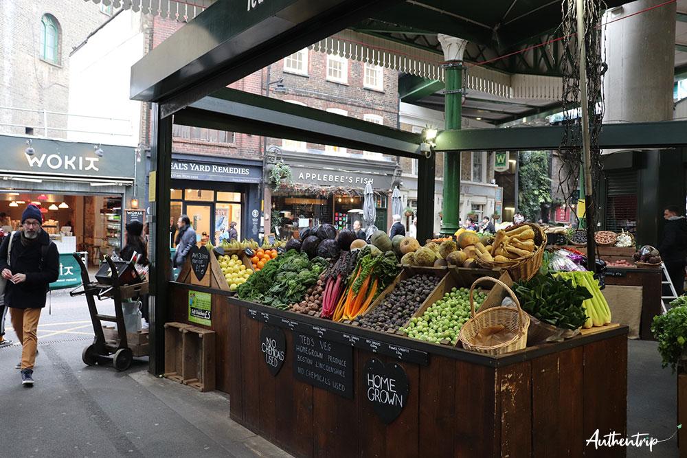 fruits et légumes borough market