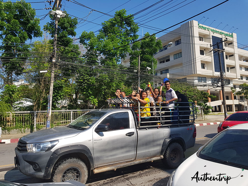 songkran pick up chumphon