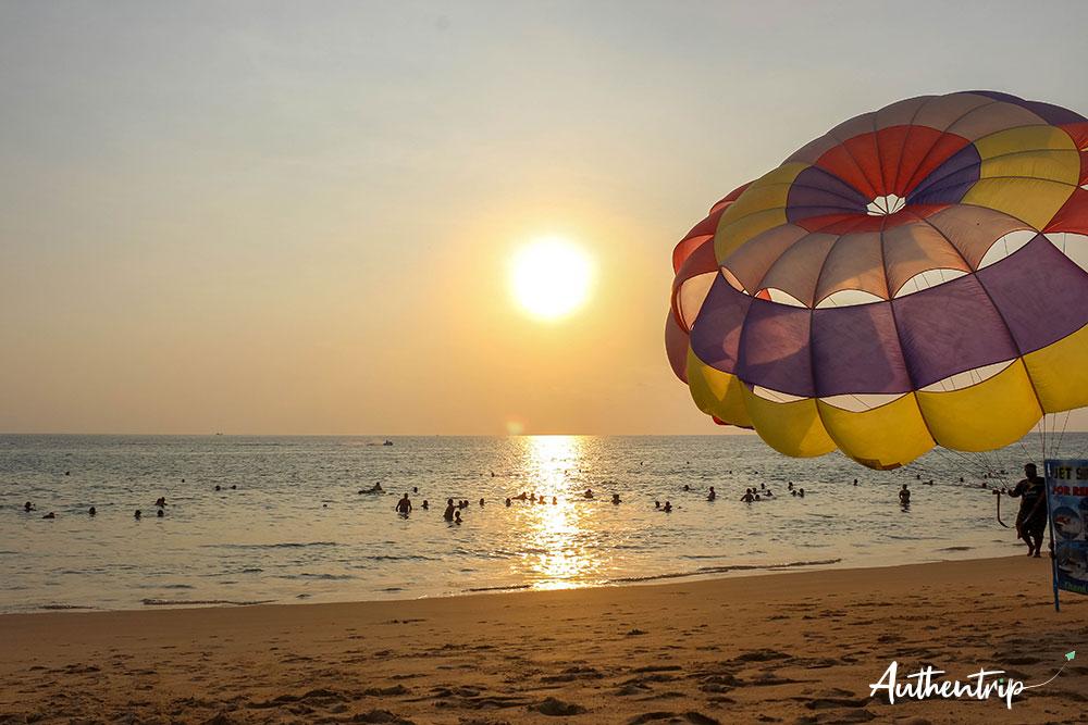 phuket coucher de soleil parachute