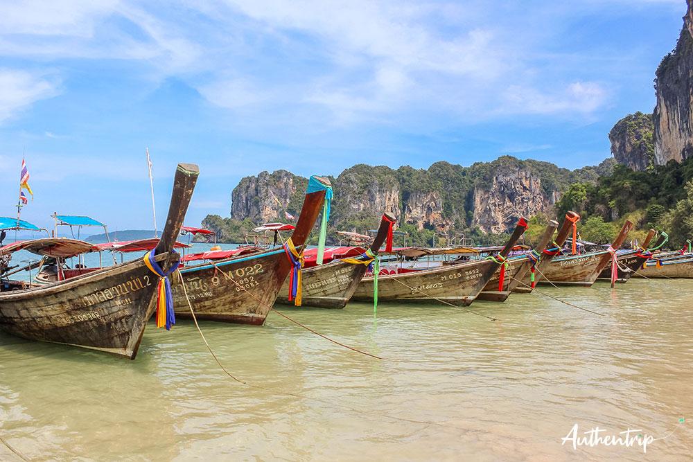 krabi bateaux railay beach