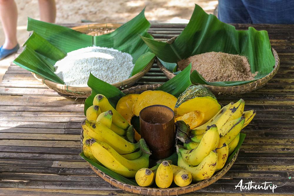 préparatifs aliments sonchana farm