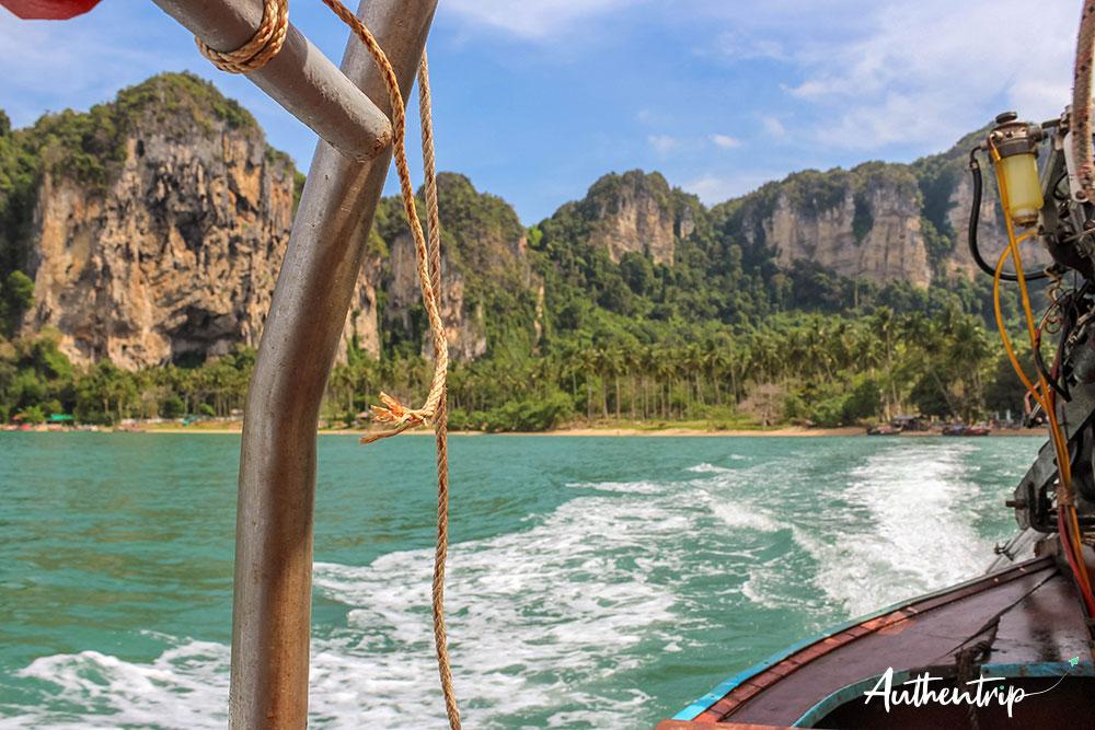 krabi railay beach taxi boat