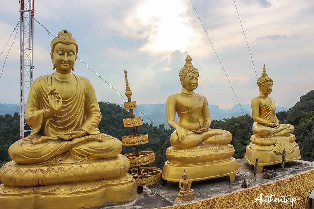 krabi tiger cave temple sommet statues