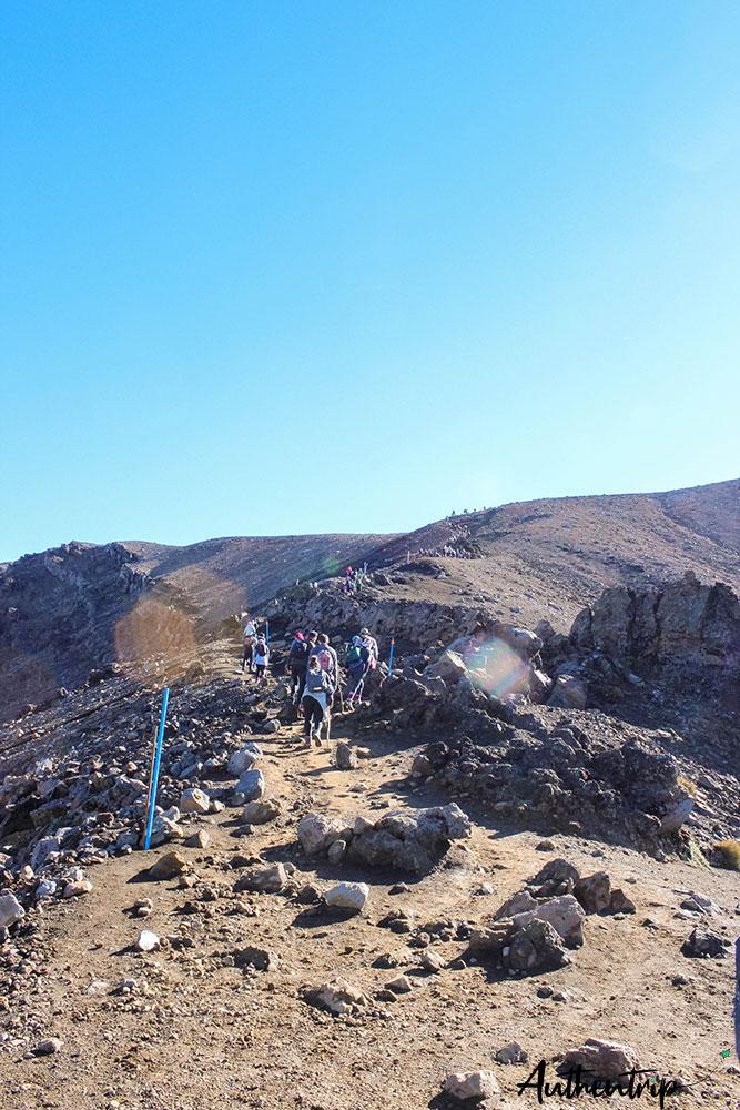 tongariro alpine crossing deuxième montee