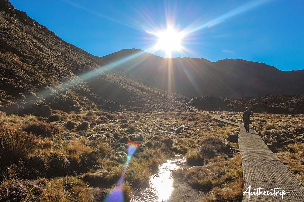 tongariro alpine crossing chemin