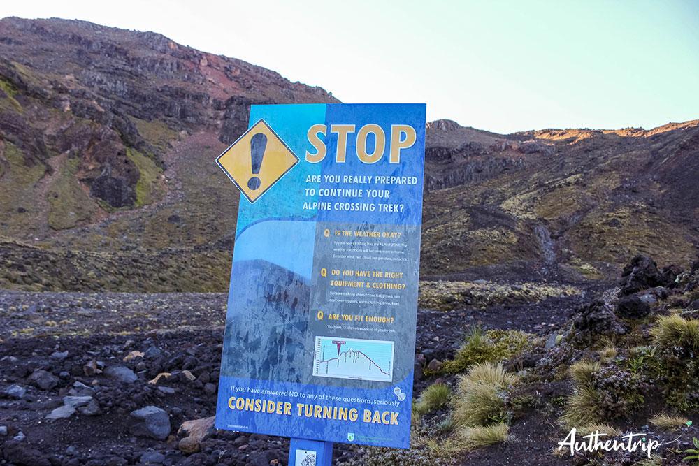 tongariro alpine crossing informations