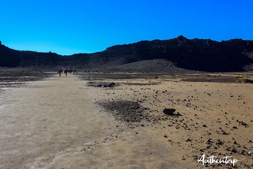 tongariro alpine crossing south crater chemin