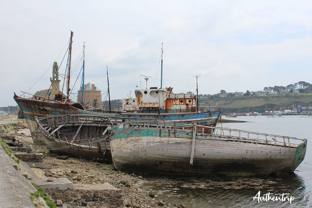 cimetière bateaux Camaret sur Mer