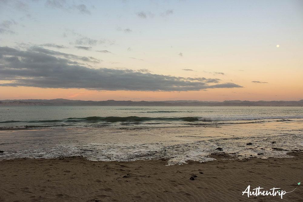 coucher soleil gisborne plage