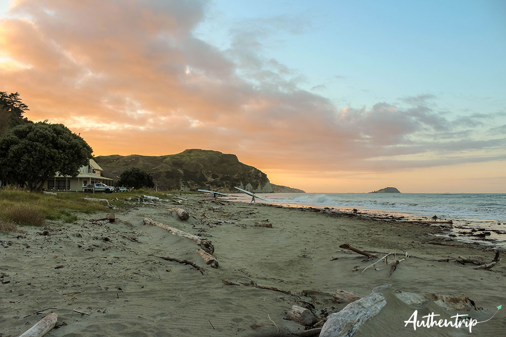 lever soleil gisborne plage