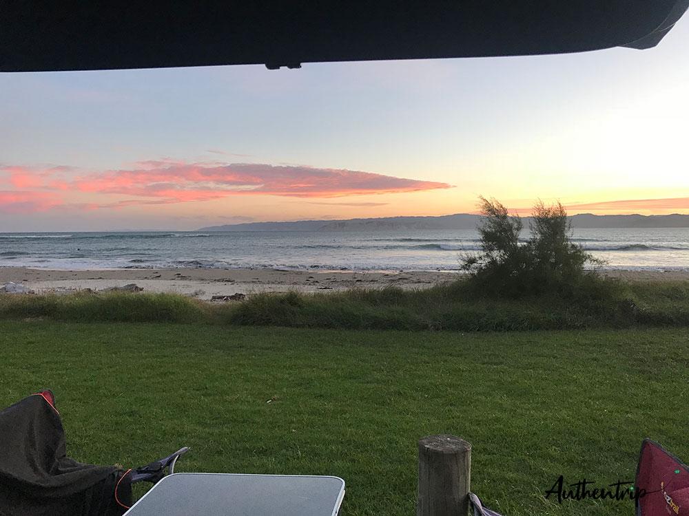 free camp gisborne plage