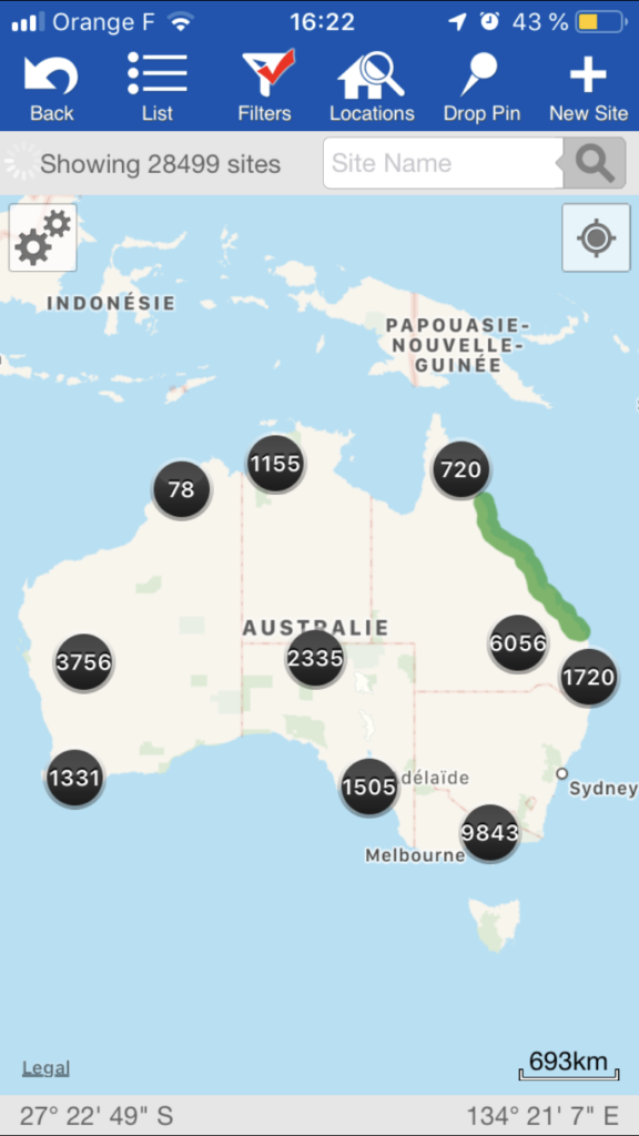 Application WikiCamps Australie