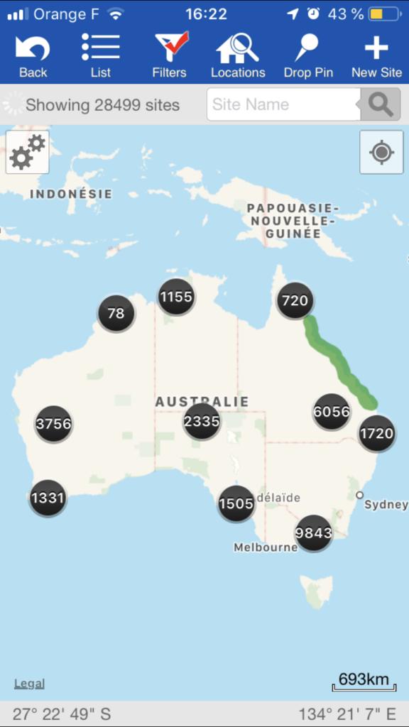 Application WikiCamps Australie