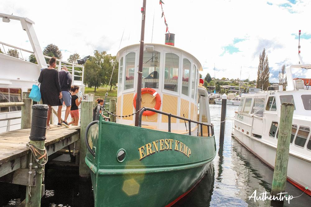 bateau, lac taupo