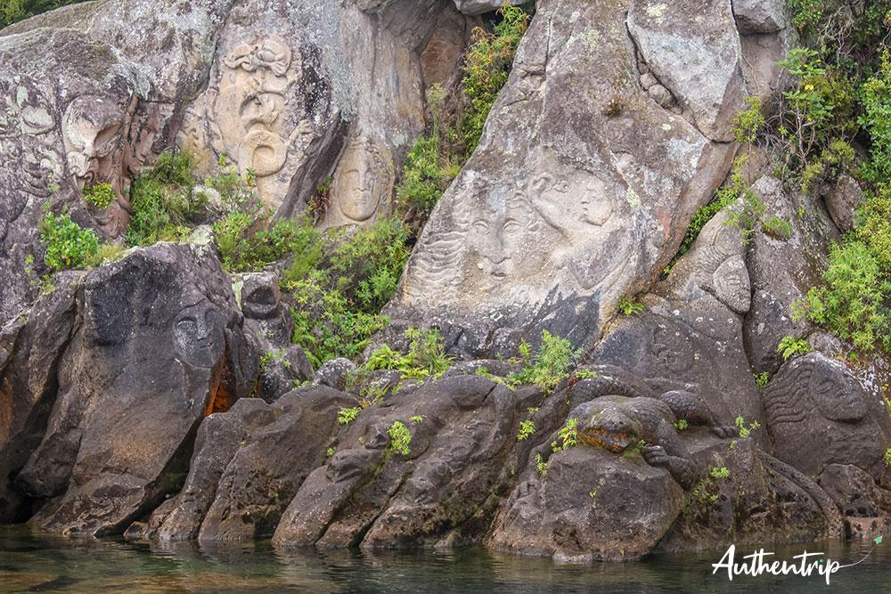 petites gravures maorie lac taupo