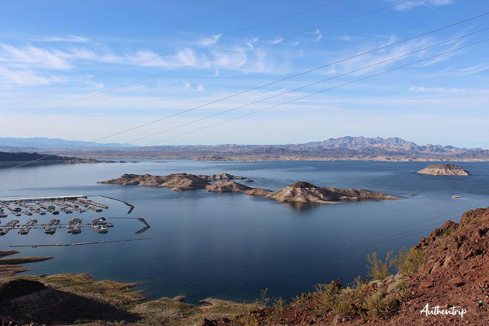 Hoover Dam lac road trip côte ouest états unis