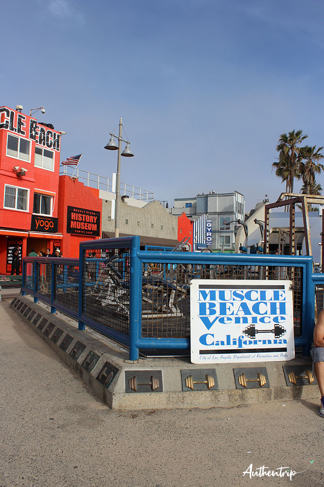 los angeles venice beach muscle beach