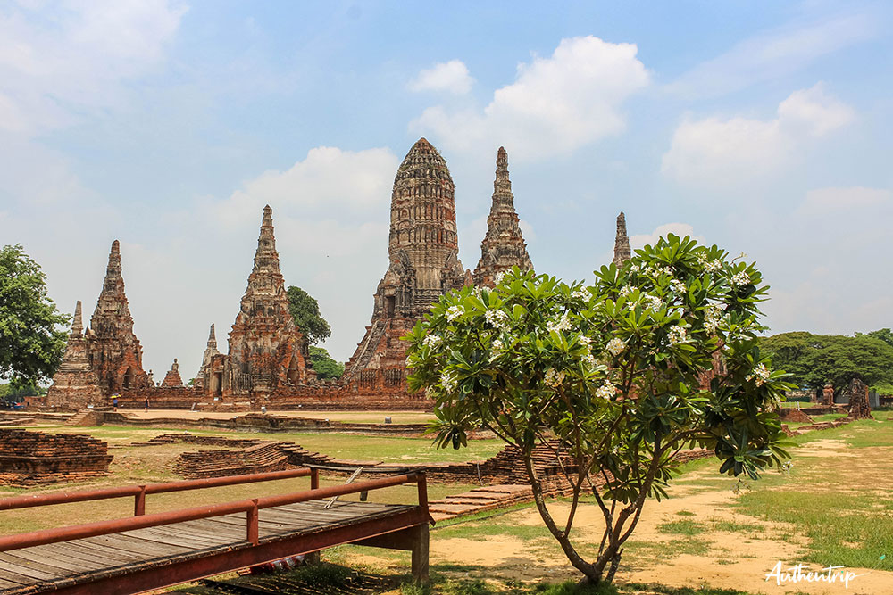 ayutthaya temple vue
