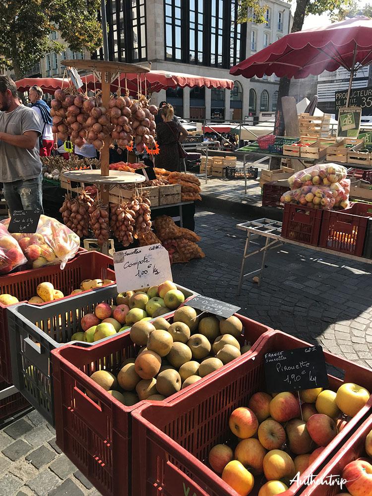 city trip rennes marché