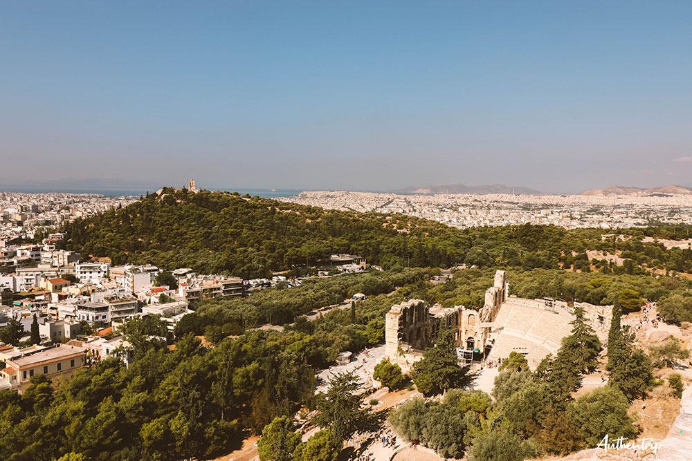 Acropole, Vue