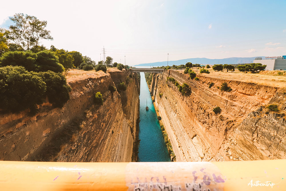 road trip péloponnèse canal de corinthe