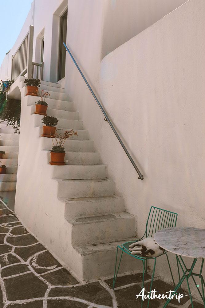 Naousa, escalier