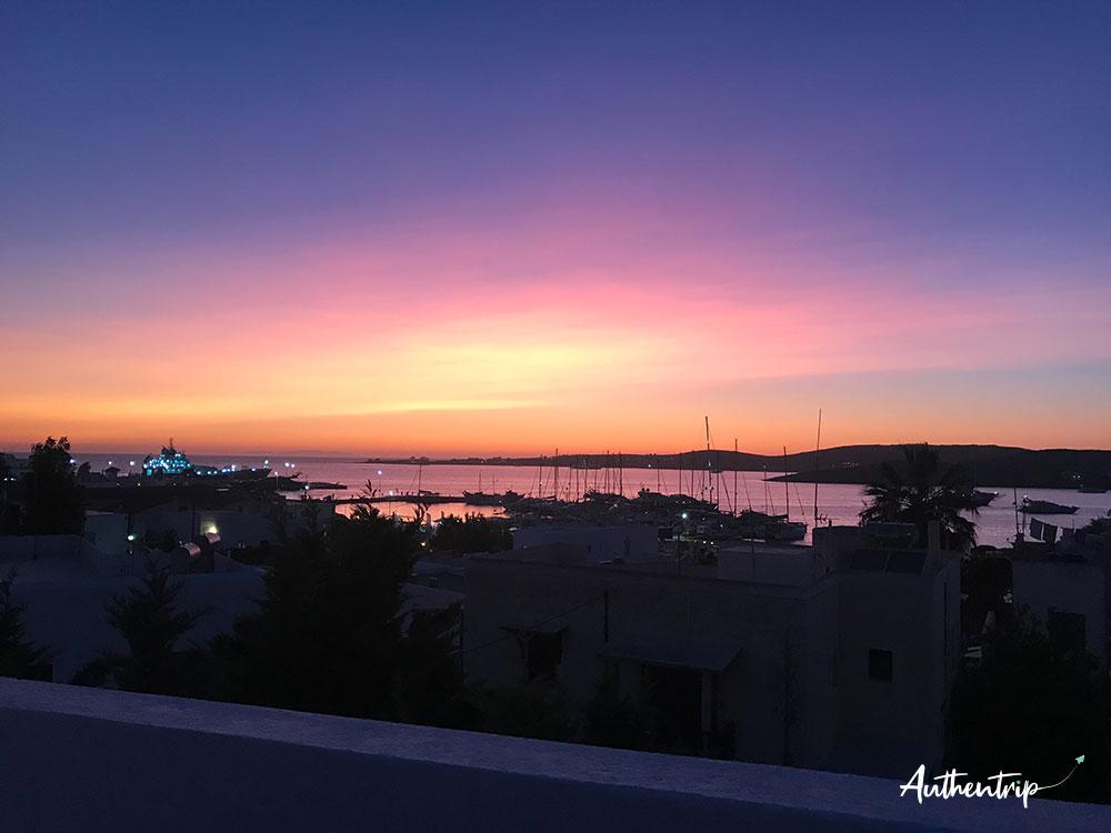 Parikia, sunset