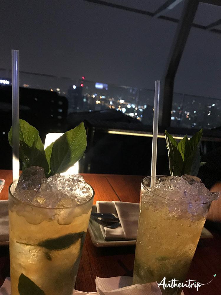 thai mojito Skybar Octave