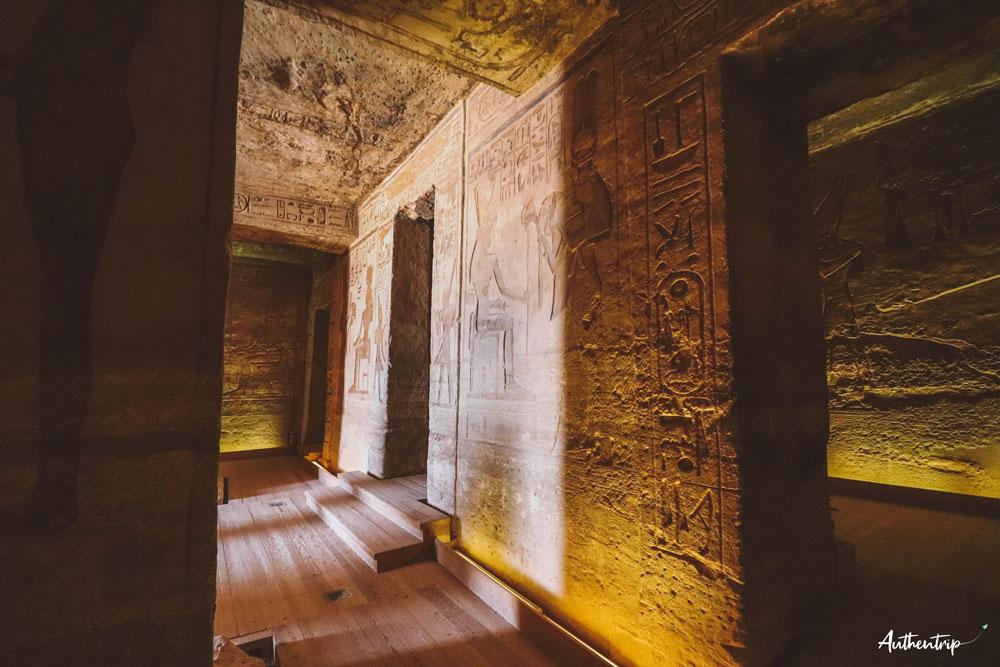 fresque petit temple abu simbel