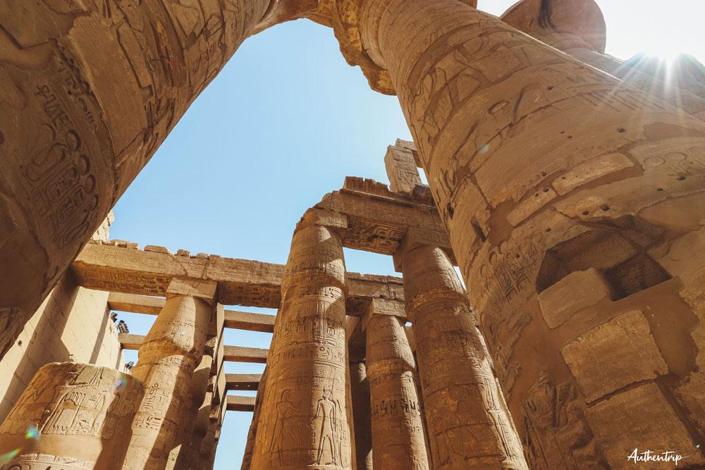 salle hypostyle colonnes karnak