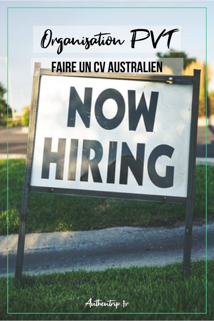 CV Australien