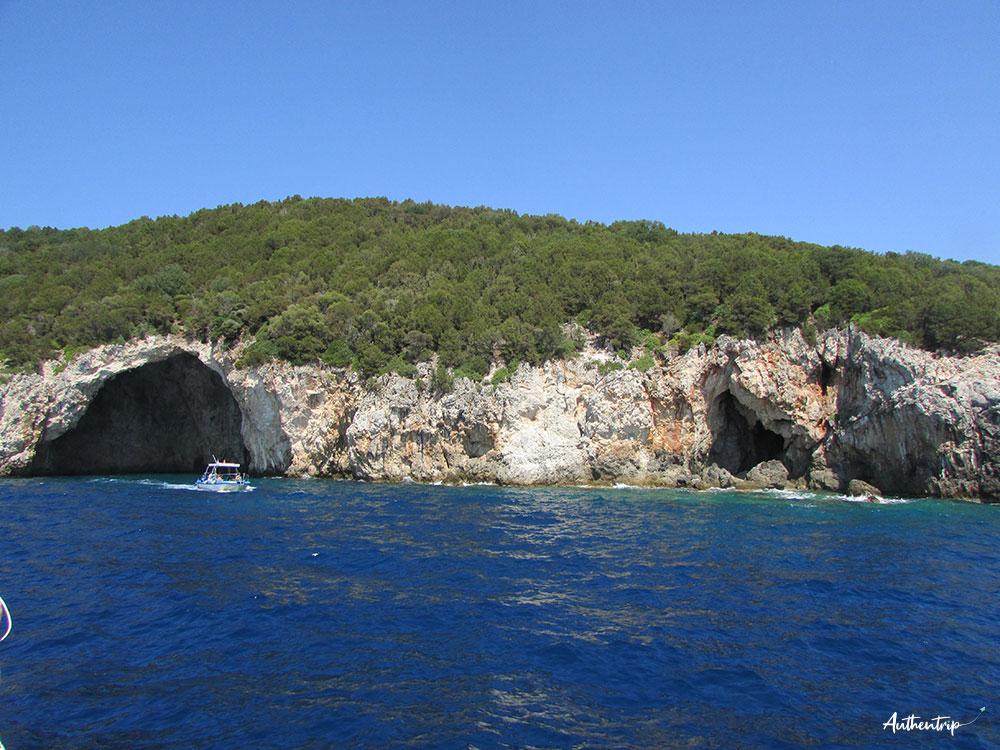 grottes bleues paxos