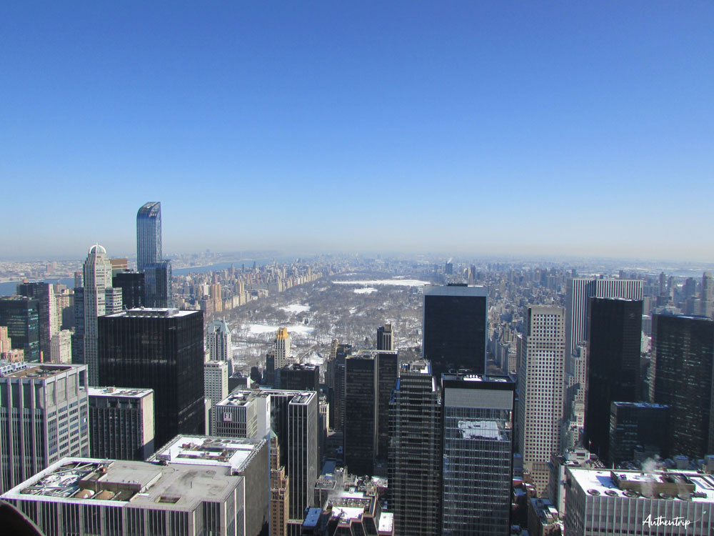 top of the rock new york vue