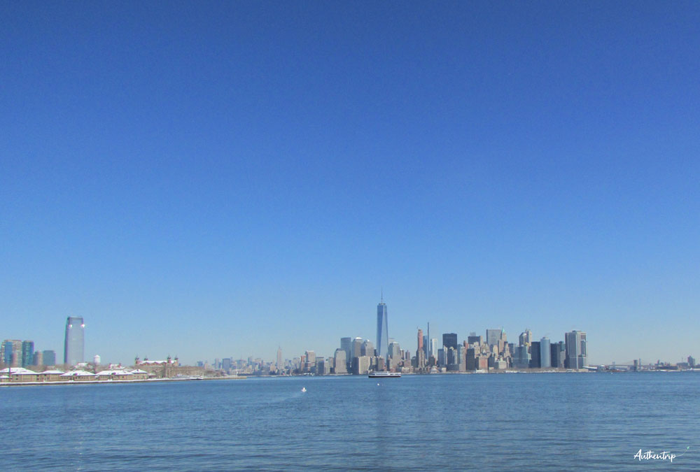 New York statue de la liberté  skyline