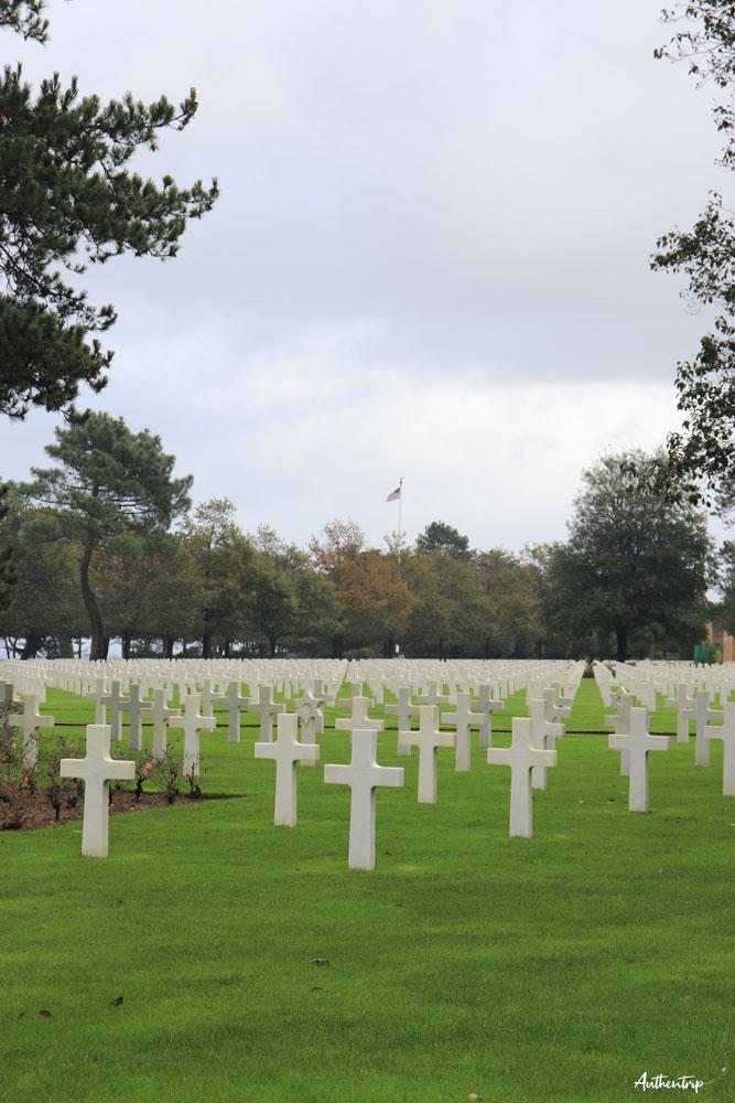cimetière américain normandie