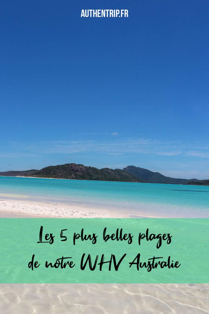 Les 5 plus belles plages de notre WHV Australie